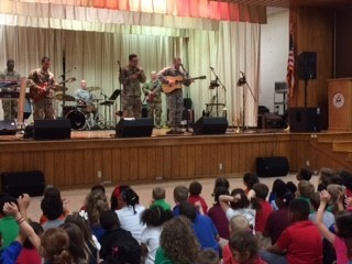 Army Band rocks Hugh Bish students!