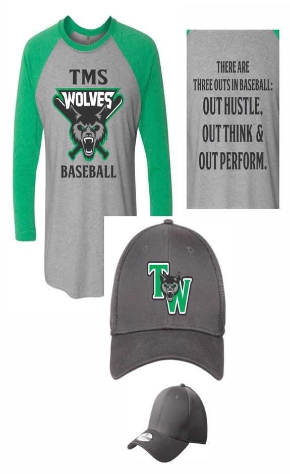 Order your TMS Baseball shirt and hat today!