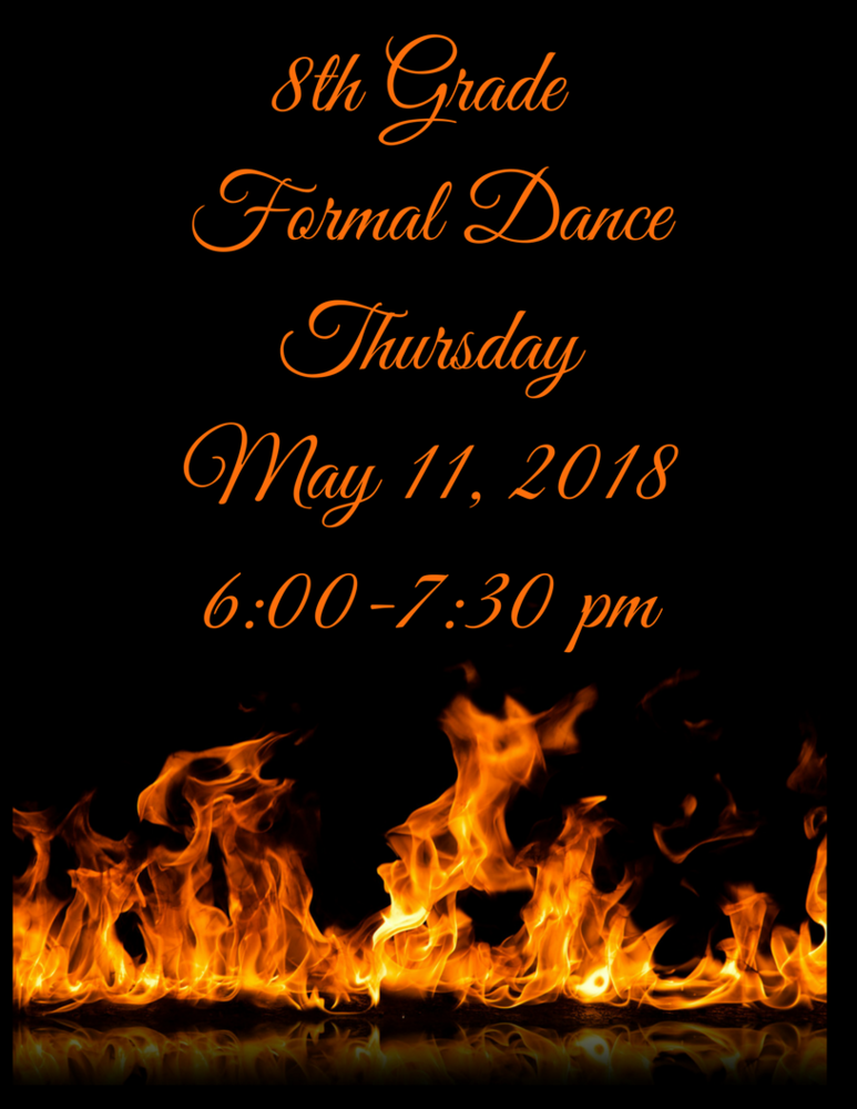 8th Grade Formal Dance Details