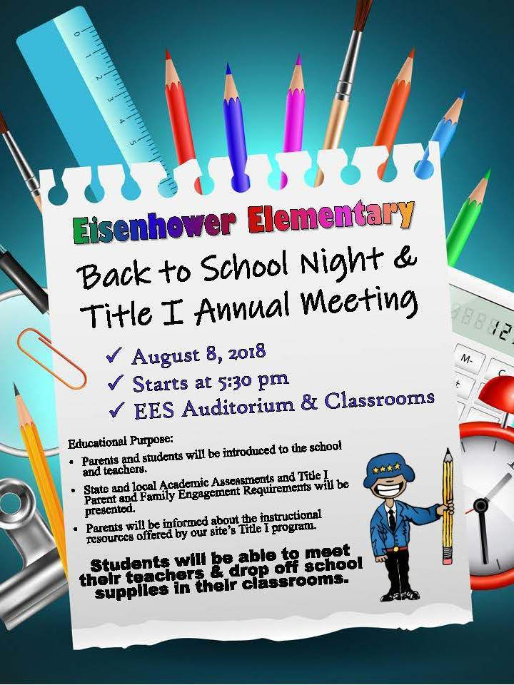 EES Back to School Night & Title I Annual Meeting