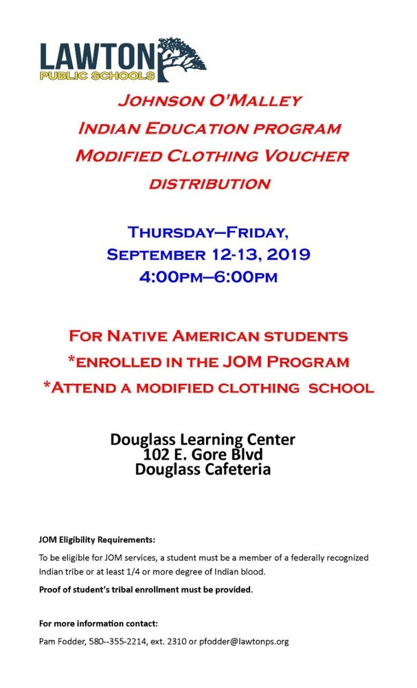 JOM Modified Clothing Voucher Distribution