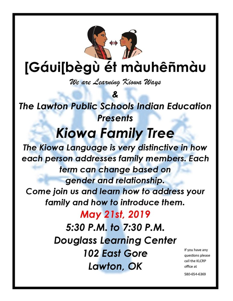 Kiowa Language Learning: Kiowa Family Tree