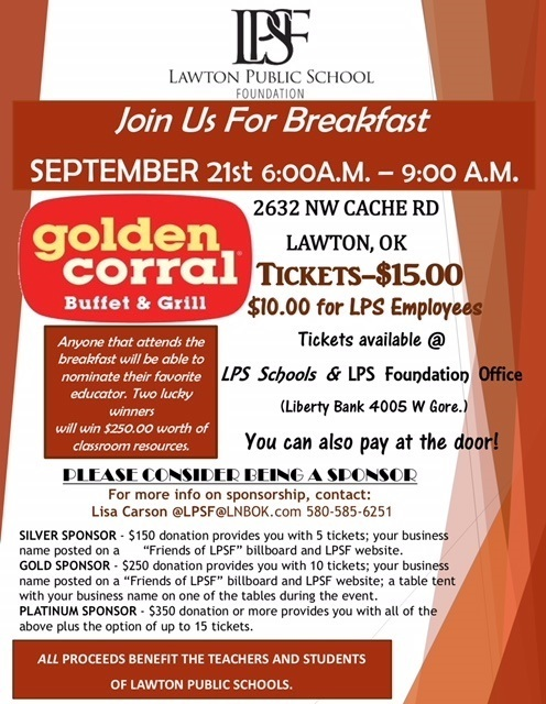 LPS Foundation Breakfast Tickets now available!