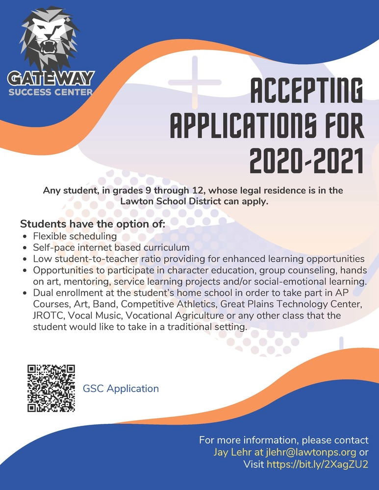 ​Gateway Success Center accepting applications for 2020-2021
