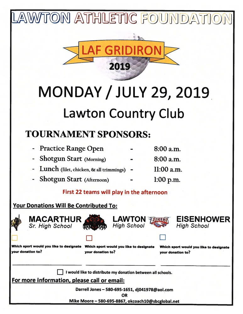 Lawton Athletic Foundation Gridiron Tournament 2019