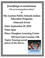 Indian Education Program Outreach Event