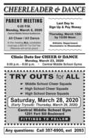 Cheer and Dance Sign Up