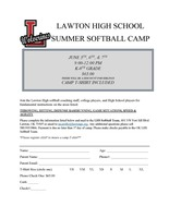 LHS Summer Softball Camp