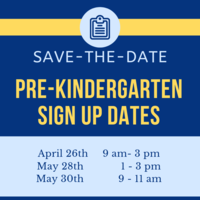 Pre-K Sign Up Dates