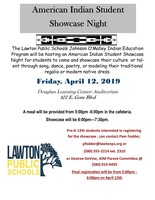 American Indian Student Showcase Night