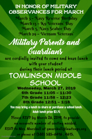 Military Parent Lunch Invitation