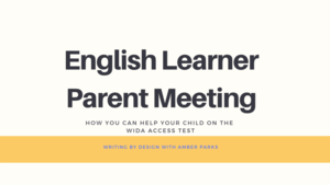 English Learner Parent Meeting