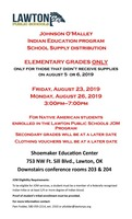 Indian Education Program: School Supply Distribution