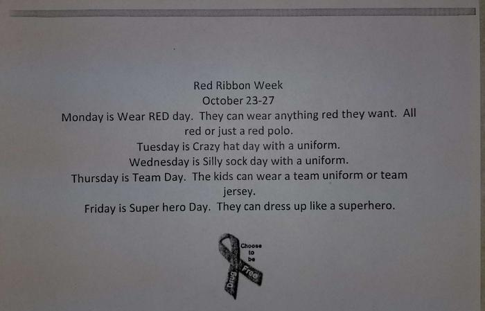 Red Ribbon Week Info
