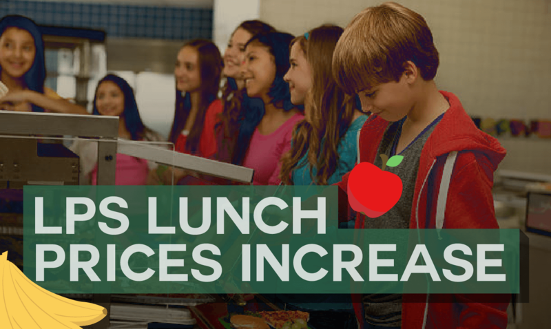 $0.10 Increase to lunch prices