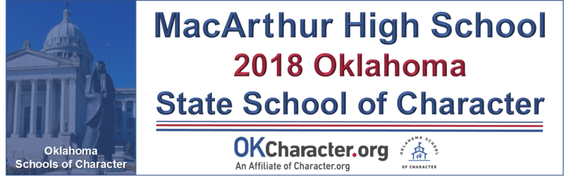 MacArthur High School Named 2018 Oklahoma School of Character
