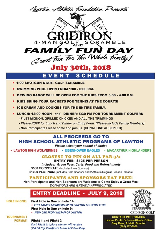 Lawton Athletic Foundation Gridiron and Family Fun Day