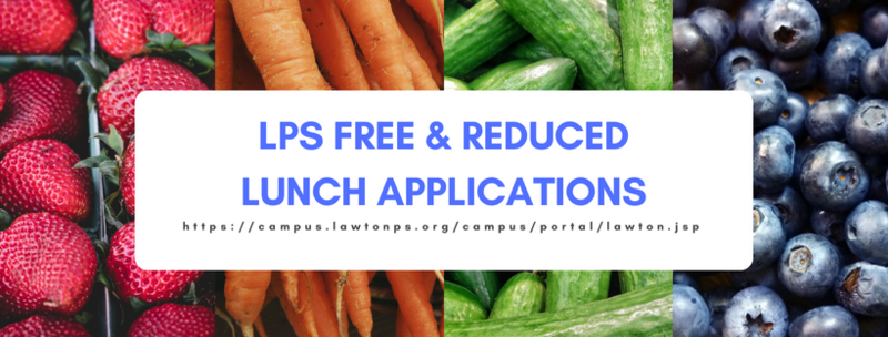 Free and Reduced Lunch Applications NOW OPEN