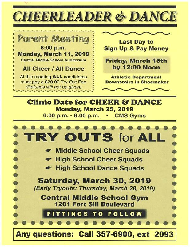 Cheerleader & Dance Tryouts