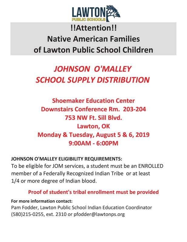 Johnson O'Malley School Supply Distribution
