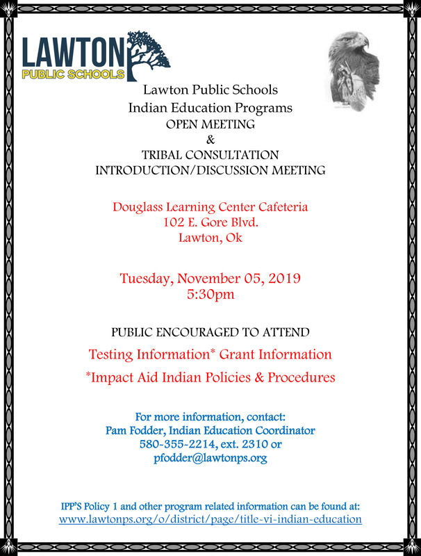 Indian Education Programs Open Meeting